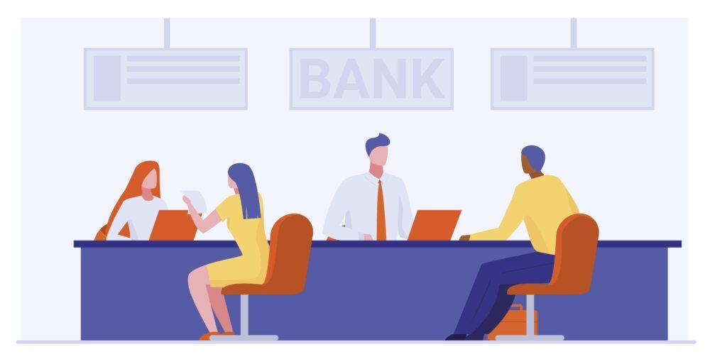 銀行の窓口